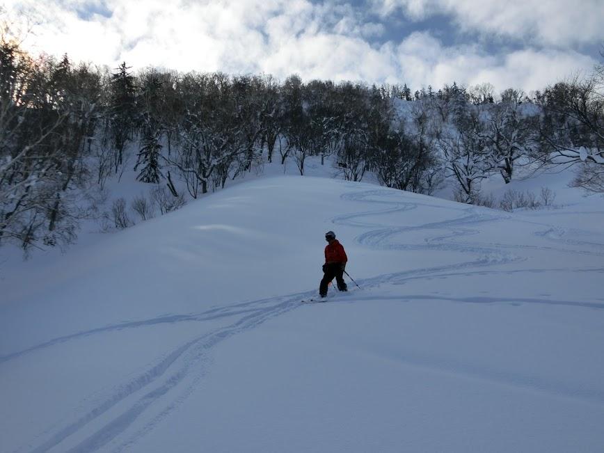 2016年1月23日札幌国際スキー場に近い白井岳支尾根の山を滑る_c0242406_10492437.jpg