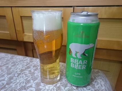 2/1夜勤明けのビールVol.260 HARBO BEAR BEER LIGHT LAGER 500ml ¥321_b0042308_1720958.jpg