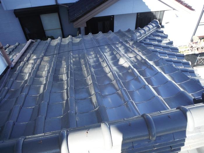 屋根瓦葺き直し ~ 工事終了です。_d0165368_5265123.jpg