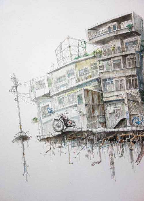 """戸倉弘一朗個展 """"海と機械の街"""" ご案内です。_a0017350_01433471.jpg"""