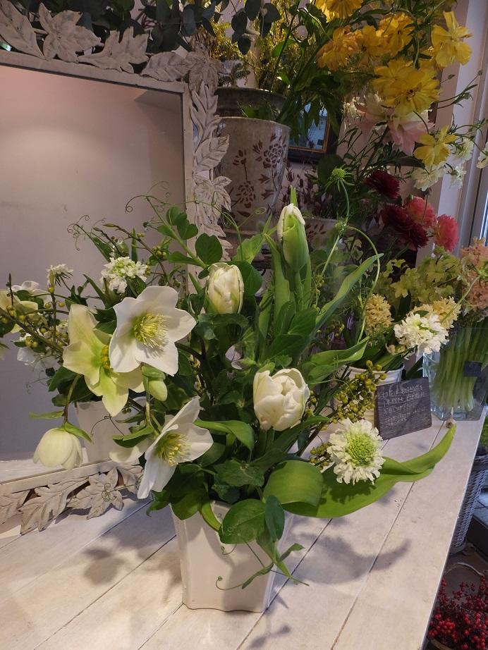 オークリーフ花の教室(青文字を使って)_f0049672_18222016.jpg