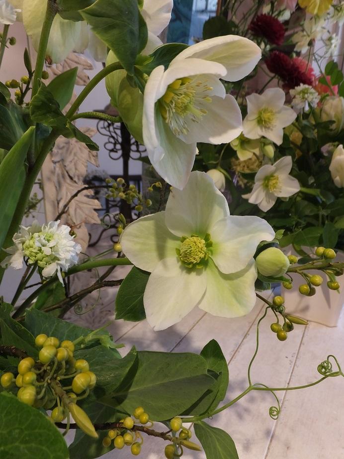 オークリーフ花の教室(青文字を使って)_f0049672_18234476.jpg