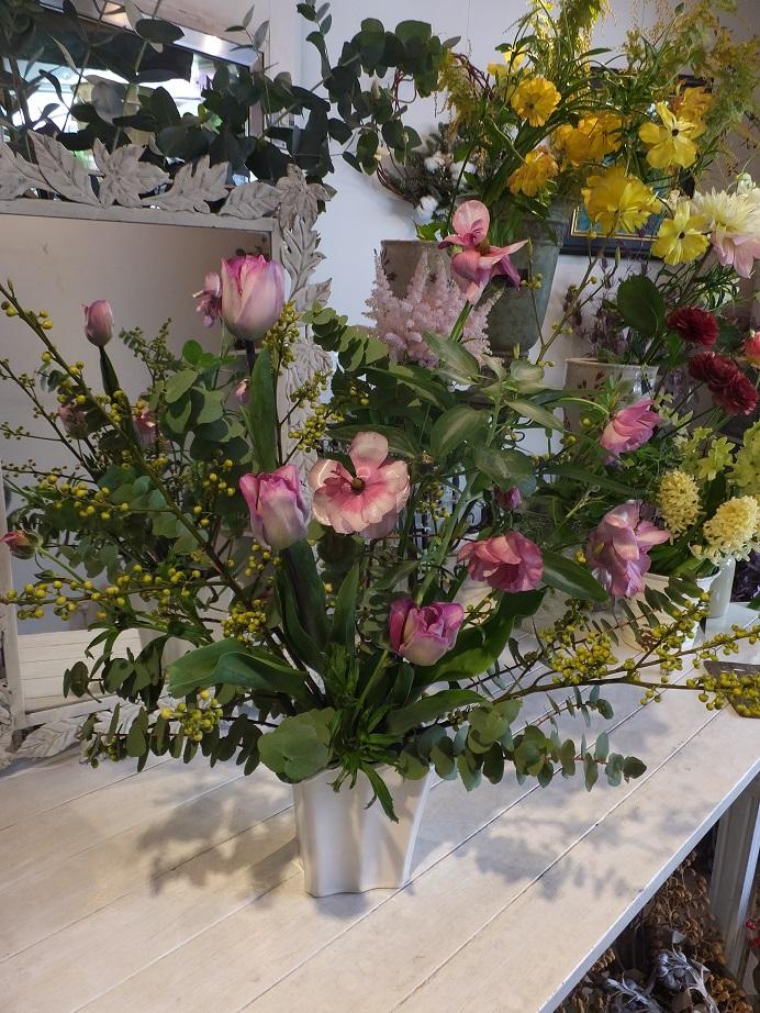 オークリーフ花の教室(青文字を使って)_f0049672_1874192.jpg
