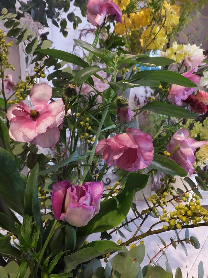 オークリーフ花の教室(青文字を使って)_f0049672_1882714.jpg