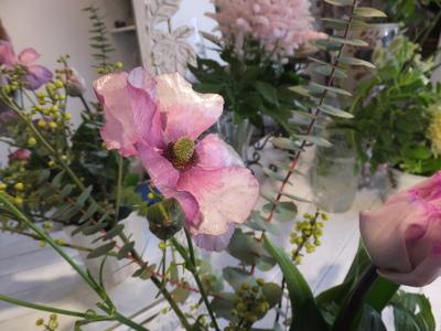 オークリーフ花の教室(青文字を使って)_f0049672_1891735.jpg