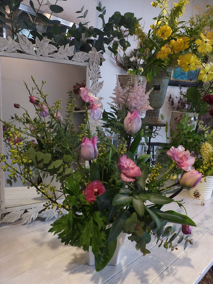 オークリーフ花の教室(青文字を使って)_f0049672_189893.jpg