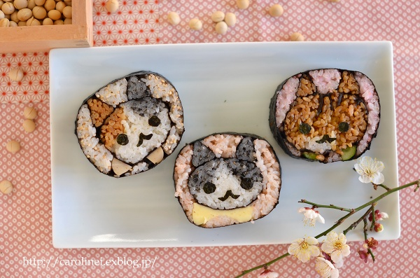節分の恵方巻2016  Homemade Fortune Sushi Roll of Setsubun_d0025294_14364462.jpg