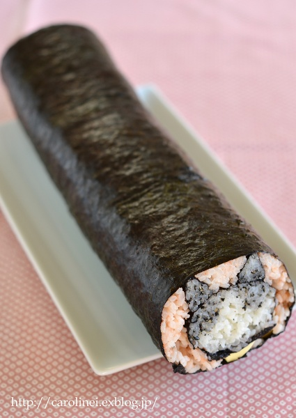 節分の恵方巻2016  Homemade Fortune Sushi Roll of Setsubun_d0025294_14371517.jpg