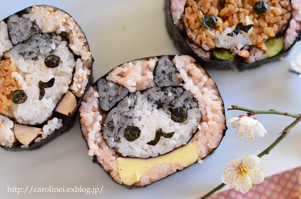 節分の恵方巻2016  Homemade Fortune Sushi Roll of Setsubun_d0025294_14373954.jpg