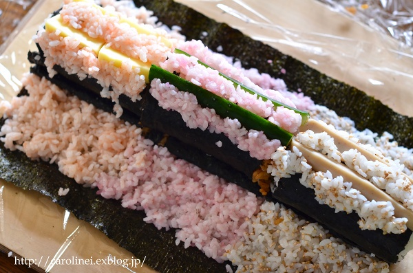 節分の恵方巻2016  Homemade Fortune Sushi Roll of Setsubun_d0025294_1437652.jpg