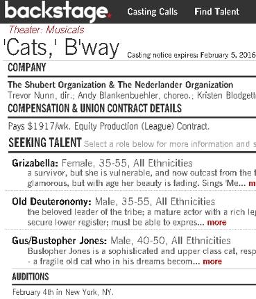 この夏、ブロードウェイに名作ミュージカル、『キャッツ』(Cats)が帰ってきます!! _b0007805_20225552.jpg