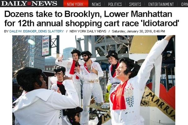NYで恒例の仮装ショッピング・カートのレース(Idiotarod)_b0007805_6115654.jpg