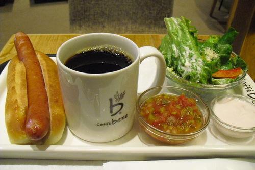 caffe bene(カフェベネ) 『サルサドッグセット』_a0326295_21595353.jpg