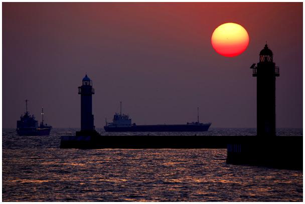 中島埠頭の夕陽_d0272207_21291751.jpg