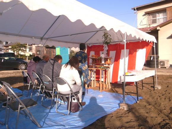 奈良津の家 地鎮祭_f0341886_14295306.jpg