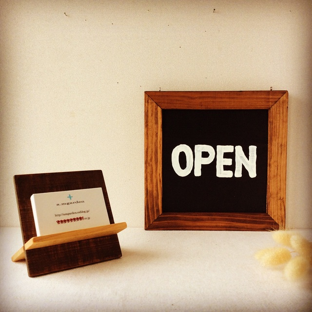 open/close看板&名刺スタンド。_b0125443_932785.jpg