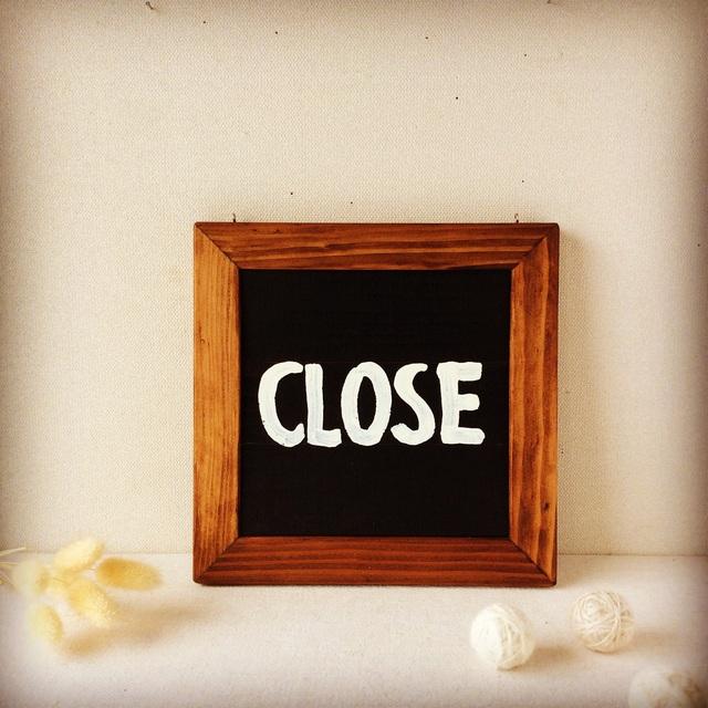open/close看板&名刺スタンド。_b0125443_9371533.jpg