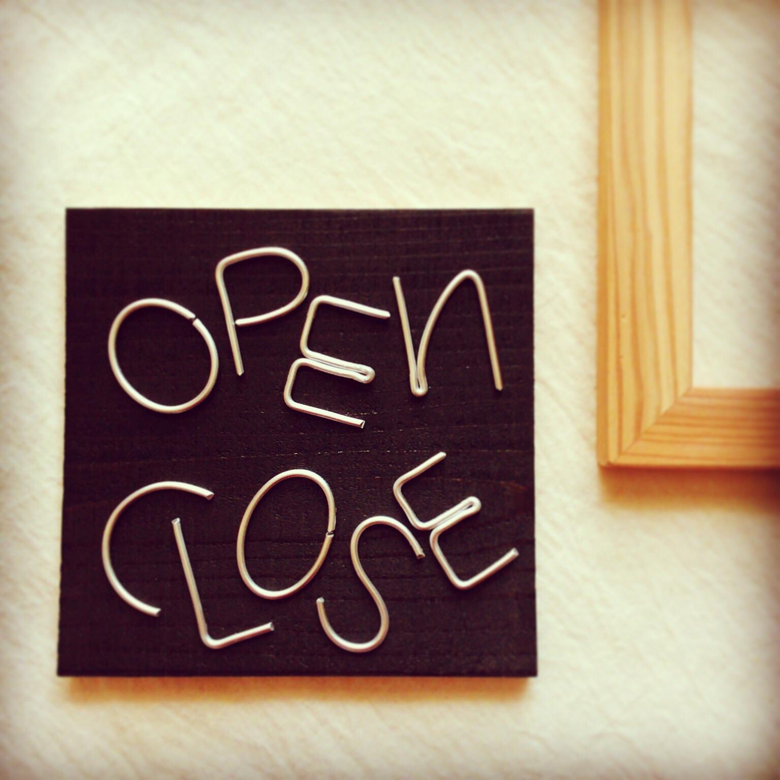 open/close看板&名刺スタンド。_b0125443_9383216.jpg