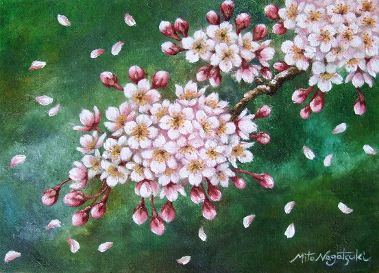 桜の油絵_b0089338_20195239.jpg