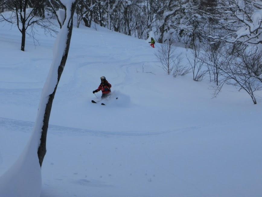 2016年1月23日札幌国際スキー場に近い白井岳支尾根の山を滑る_c0242406_14495622.jpg