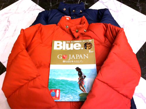 「 Blue. 最新号 & D.STOCK DOWN JKT 」_c0078333_16225018.jpg