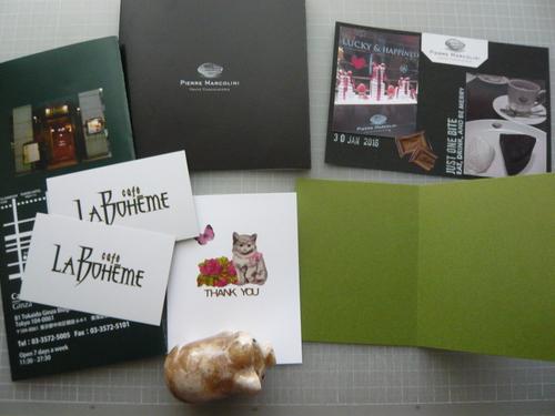 スクラップ風ミニサンキューカードと雑誌『anan』にゃんこLOVE特集のこと_d0285885_9504118.jpg