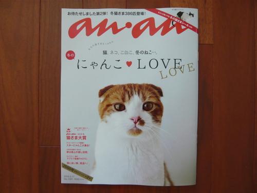 スクラップ風ミニサンキューカードと雑誌『anan』にゃんこLOVE特集のこと_d0285885_959772.jpg