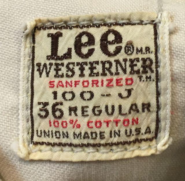 2月13日(土)入荷!60s〜Lee Westerner JKT!_c0144020_16395198.jpg