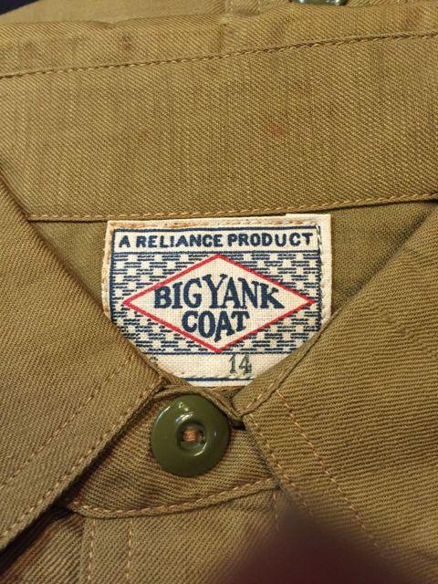 2月13日(土)入荷!30s デッドストック BIG YANK チンストシャツ!メタルボタン、オールコットン!_c0144020_20451146.jpg