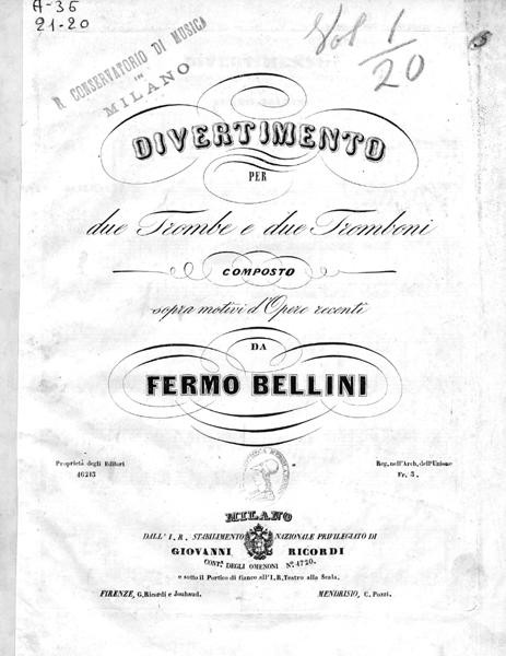 ベッリーニ:2本のトランペットと2本のトロンボーンの為のディヴェルティメント_b0189423_1445298.jpg