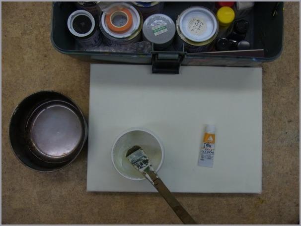 キャンバスの木枠の組み方〜下地塗りまで。_a0086270_10581329.jpg
