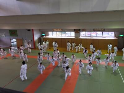 宇美道場での合同練習_b0172494_15024610.jpg