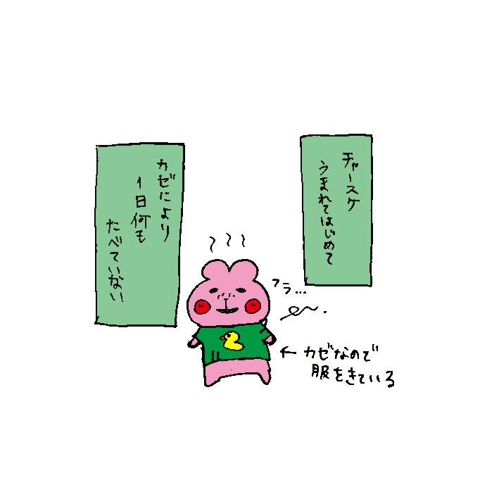 ハムカツとショートアニメ ~痩せちゃったチャースケ~_d0159822_12373388.jpg