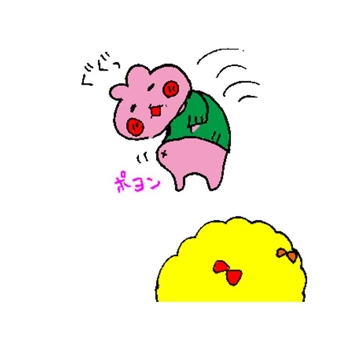 ハムカツとショートアニメ ~痩せちゃったチャースケ~_d0159822_12381540.jpg