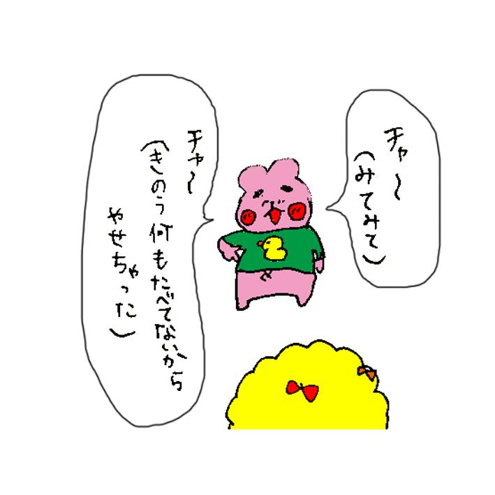 ハムカツとショートアニメ ~痩せちゃったチャースケ~_d0159822_1238655.jpg