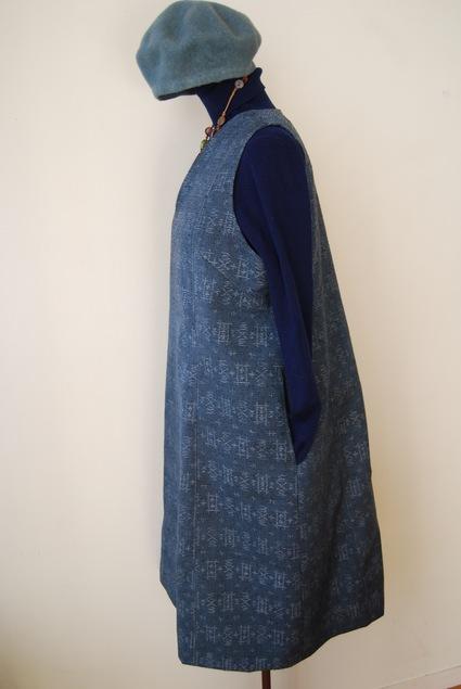 着物リメイク・ウールのお着物でジャンバースカート_d0127925_15191542.jpg