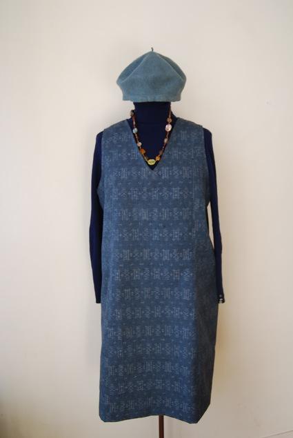 着物リメイク・ウールのお着物でジャンバースカート_d0127925_15192753.jpg