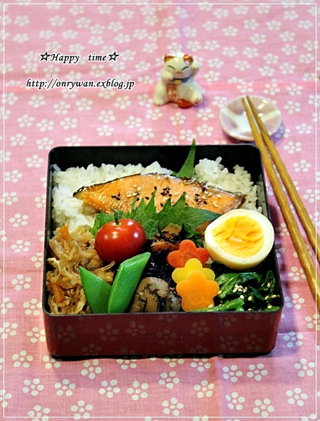 鮭の照焼き弁当と今週の常備菜♪_f0348032_18081752.jpg