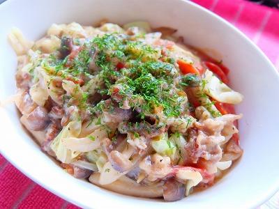 豚肉と野菜のお好み風とろっと炒め♪_e0175443_10134767.jpg