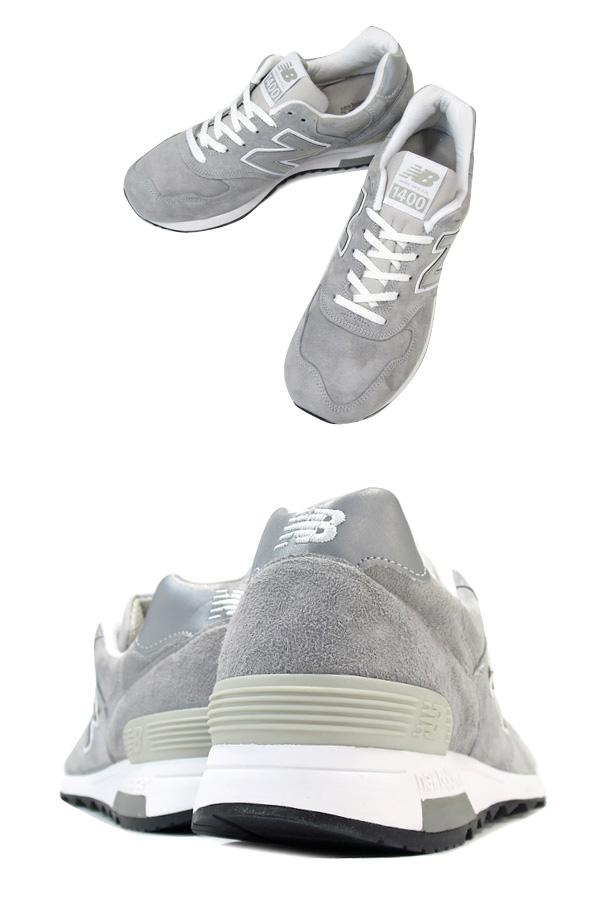 遂に入荷です(^^♪ newbalance ・・・ M 1400 (MADE IN USA) GRAY NUBAK LEATHER!★!_d0152280_20431959.jpg