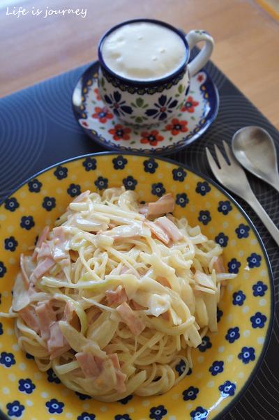 卵なし・バターなし 豆乳カルボナーラ風パスタ_e0298288_11362021.jpg