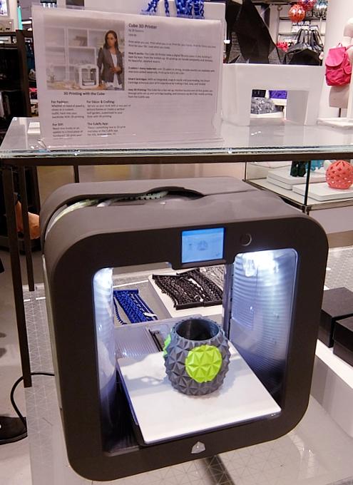 NYメイシーズ本店内にある3Dプリンター・メーカー「3Dシステムズ」(3D Systems)の直営店_b0007805_2146340.jpg