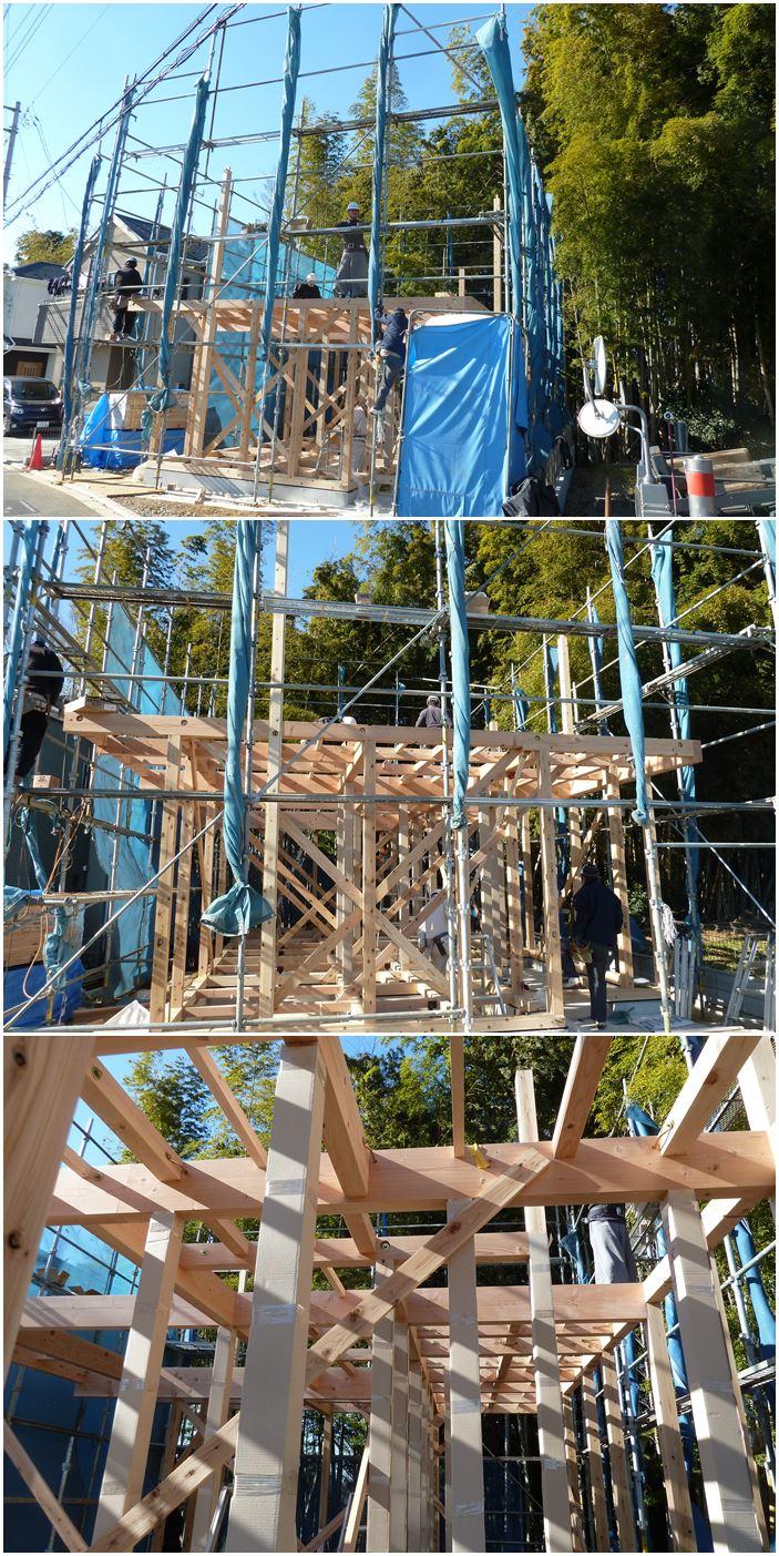 川崎市高津区の家☆無事上棟しました!_c0152341_1656182.jpg