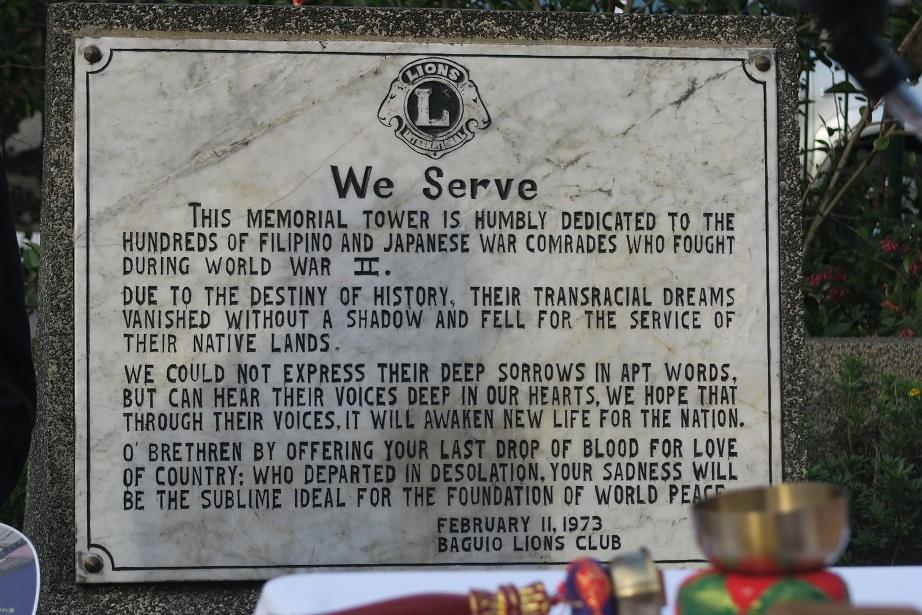 フィリピン・バギオ戦没者慰霊祭 : 毎年2月に開催されています_a0109542_2311382.jpg