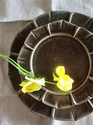 オンラインショップのご案内~松尾直樹さんの鉄釉花形皿L_b0132444_23304634.jpg