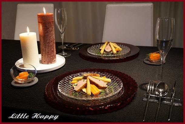 鴨肉と根菜のサラダ&ワタリガニのパスタ_d0269651_09254942.jpg