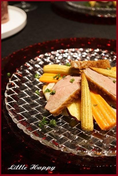 鴨肉と根菜のサラダ&ワタリガニのパスタ_d0269651_09394698.jpg