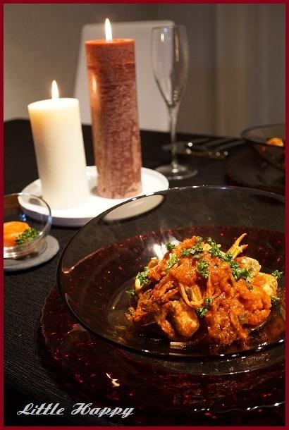 鴨肉と根菜のサラダ&ワタリガニのパスタ_d0269651_09524730.jpg