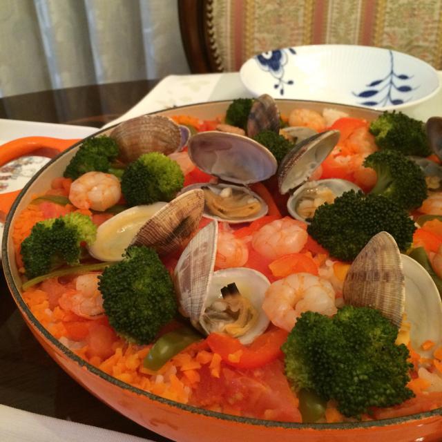野菜たっぷりパエリア_e0146470_08170616.jpg