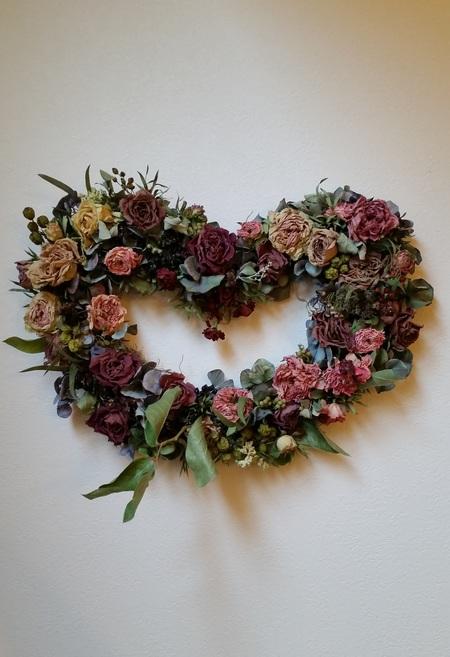 結婚式後のブーケの保存 お母様手作りのバラのドライフラワー ASOの花嫁様より_a0042928_13223039.jpg